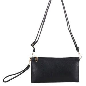 Multi compartment Wristlet Crossbody bag
